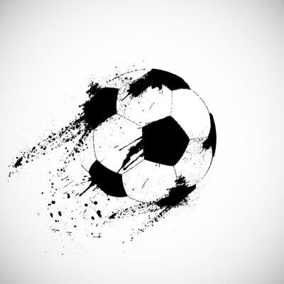 Naklejka Grunge piłka nożna