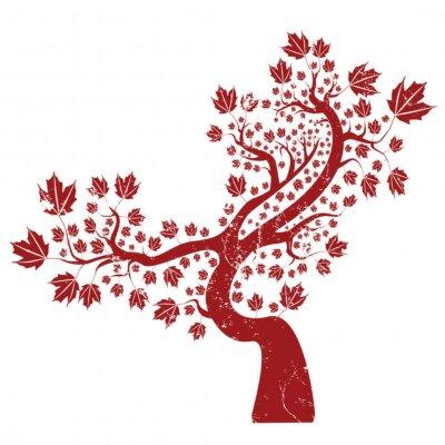 Naklejka Grunge tree