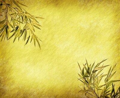Naklejka Grungy Background.old papier z bambusa oddziałów