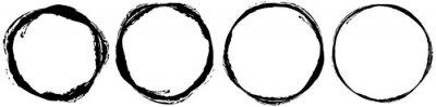 Naklejka Grungy textured circle element, shape. Circular grunge shape