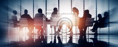 Naklejka Grupa ludzi biznesu Meeting podświetlany Concept