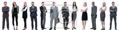 Naklejka grupa ludzi sukcesu w biznesie na białym tle