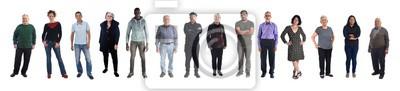 Naklejka grupa mieszanych osób