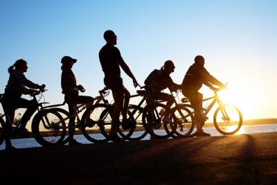 Naklejka grupa na rowerach