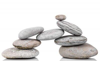 Naklejka Gruppo di pietre w Fondo bianco
