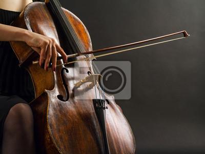 Naklejka Gry na wiolonczeli