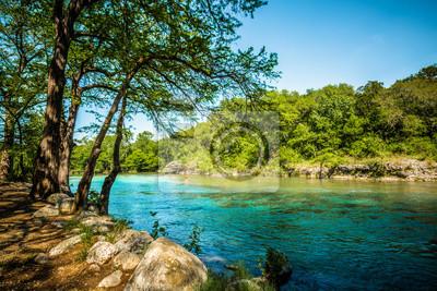 Naklejka Guadalupe River New Braunfels, Teksas