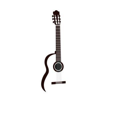 Naklejka guitar isolated on white background