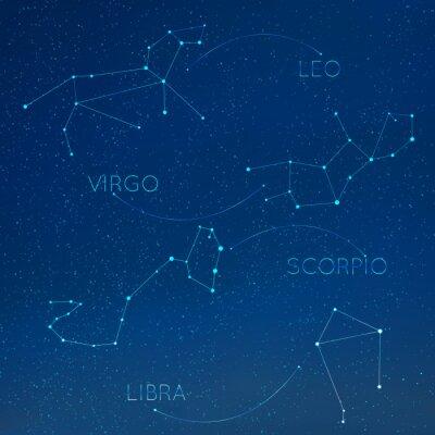 Naklejka Gwiazdozbiór zodiakalny w panoramę z wielu innych gwiazd