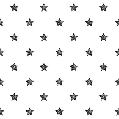 Naklejka Gwiazdy kulas szkic tło wzór.
