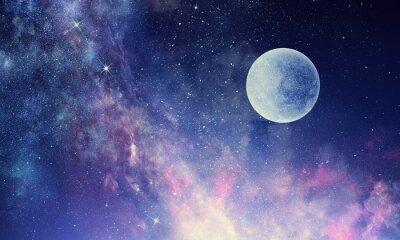Naklejka Gwiaździste niebo i księżyc. Różne środki przekazu