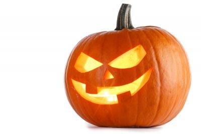 Naklejka Halloween Pumpkin isolated on white
