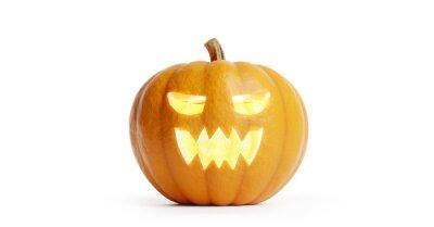 Naklejka Halloween pumpkin isolated on white.