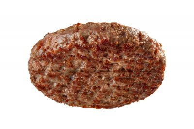 Naklejka Hamburger patty isolated on white