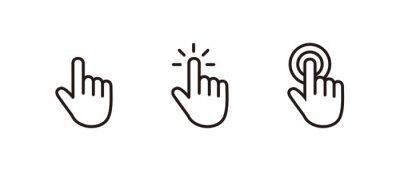 Naklejka Hand Cursor icon set, Click icon vector