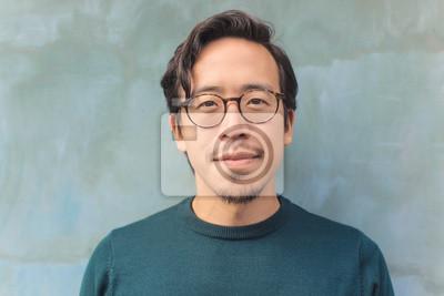 Naklejka Handsome Asian guy