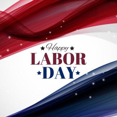 Naklejka Happy Labor Day Poster Vector Illustration
