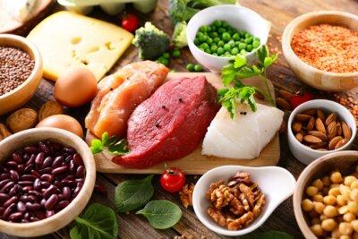 Naklejka health food selection- balanced diet food
