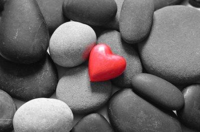 Naklejka Heart and stones