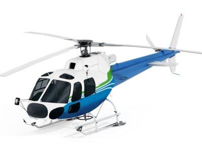 Naklejka Helikopter na białym tle