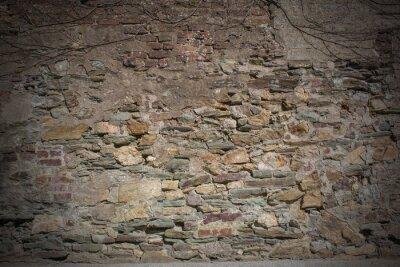 Naklejka Hintergrund - Naturstein Mauer