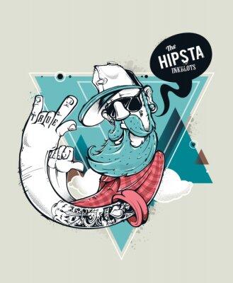 Naklejka Hipster grafitti charakter