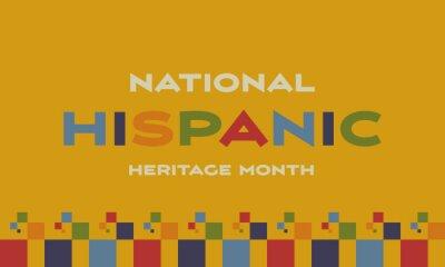 Naklejka Hispanic Heritage Month background. Poster, card, banner