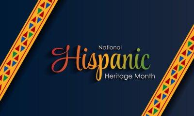 Naklejka Hispanic National Heritage Month in September and October. Hispanic and Latino culture. Latin American patterns.
