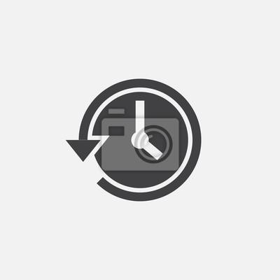 Naklejka historia ikona