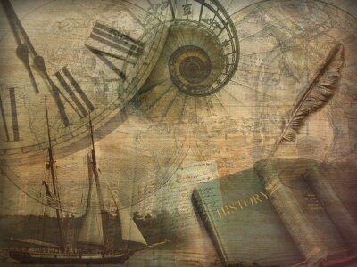 Naklejka Historia Kolaż