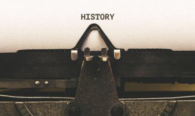 Naklejka Historia, tekst na papierze rocznika maszyny do pisania z 1920 roku