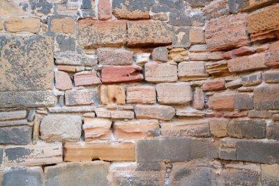 Naklejka historic stone wall detail