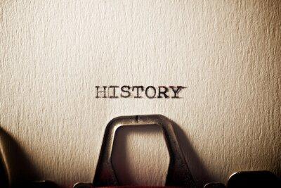 Naklejka History concept view