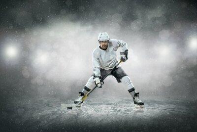 Naklejka Hokeista na lodzie, na zewnątrz