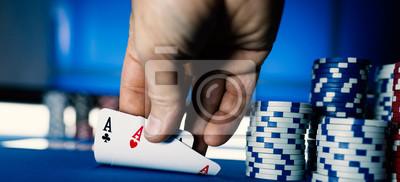 Hold 'em Texas poker tournament at casino