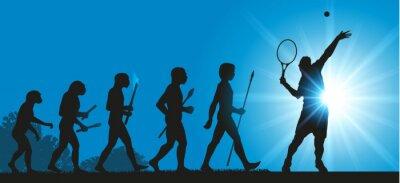Naklejka Hommes Evolution Tennis