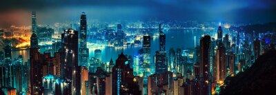 Naklejka Hongkong panorama