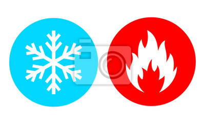 Naklejka Hot and cold vector icon
