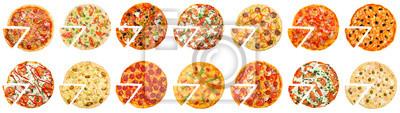 Naklejka Hot pizza delivery concept