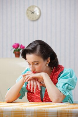 housewife sad