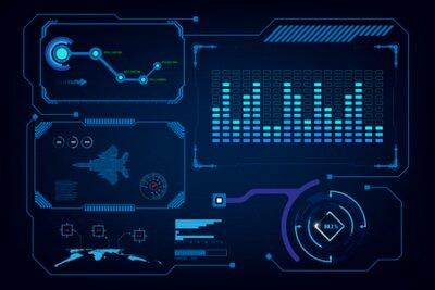 Naklejka hud gui interface virtual artificial intelligence template