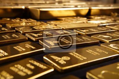 Naklejka Hundreds kilos of gold stolen during war in Europe found on unknown place