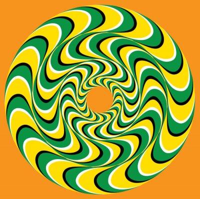 Naklejka Hypnotic Swirly Sphere