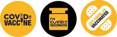 Naklejka I'm Covid-19 vaccinated icon signage