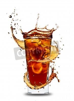 Naklejka Ice cola z powitalny, na białym tle