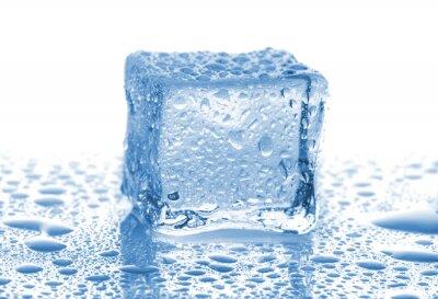 Naklejka Ice Cube z kropli wody