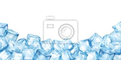 Naklejka Ice Cubes Blocks Frame