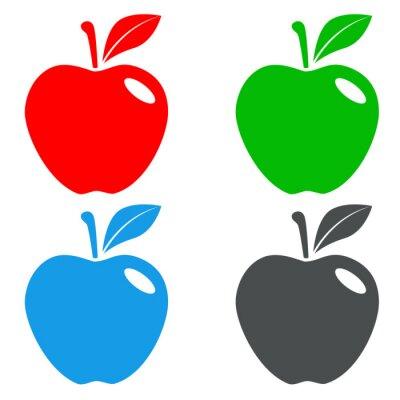 Naklejka Icono plano Manzana pl varios colores # 4