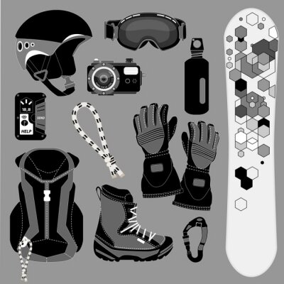 Naklejka Iconset Snowboard [sw]
