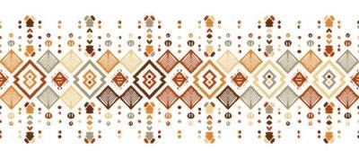 Naklejka Ikat seamless pattern. Tribal art print. Chevron